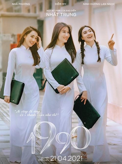 Ngoài Song song, Nhã Phương còn có phim 1990 ra rạp trong tháng này. Cô cùng với hai người bạn thân Ninh Dương Lan Ngọc và Diễm My 9x thể hiện ba hình ảnh phụ nữ tuổi 30 của xã hội hiện đại. Không tìm kiếm sự bùng nổ hay đột phá trong dự án phim tình cảm này, ba ngọc nữ màn ảnh Việt muốn đánh dấu mốc sự nghiệp và tuổi 30 với sự kết hợp này. Đóng cặp với họ là các diễn viên Quang Tuấn, Hải Nam và Mạc Văn Khoa. Phim ra rạp từ 21/4.