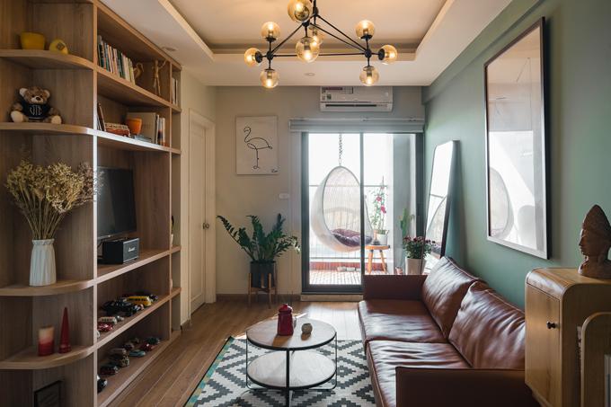 Sau 30 ngày, căn hộ sử dụng tông màu trắng chủ đạo, pha xanh bạc hà đã có phong cách hiện đại rõ rệt và nội thất tiện nghi bắt trend.