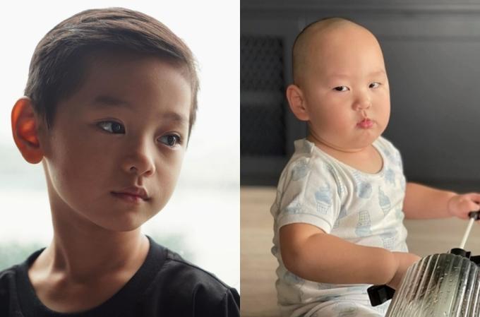 Anh lớn Gia Hy giống hệt mẹ, có đôi mắt biết nói, hút hồn người đối diện. Ngược lại, Hayden là bản sao của ba, nhiều biểu cảm hài hước.