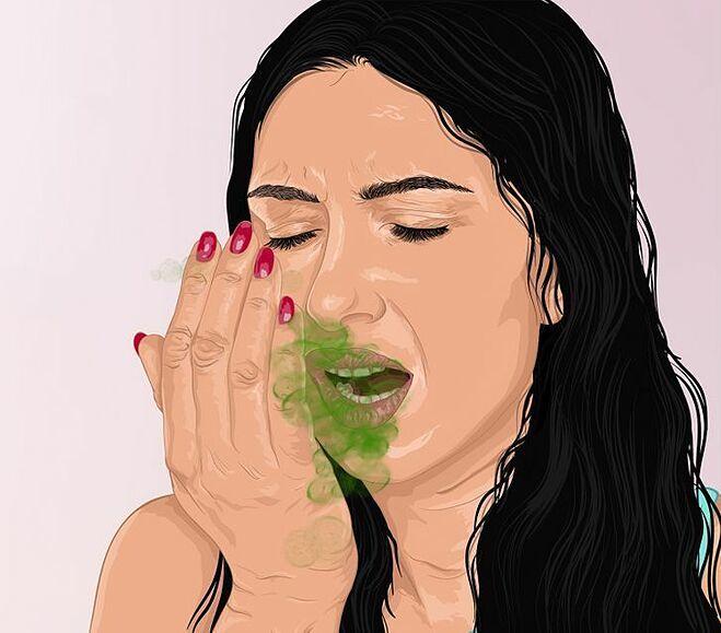 Ăn quá nhiều thịt có thể gây hôi miệng.