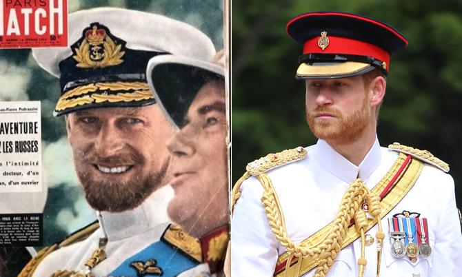 Harry giống hệt Hoàng thân Philip thời trẻ