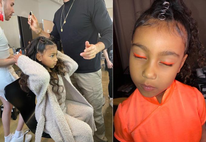 Kim không quá khắt khe với sở thích làm đẹp của con gái lớn.