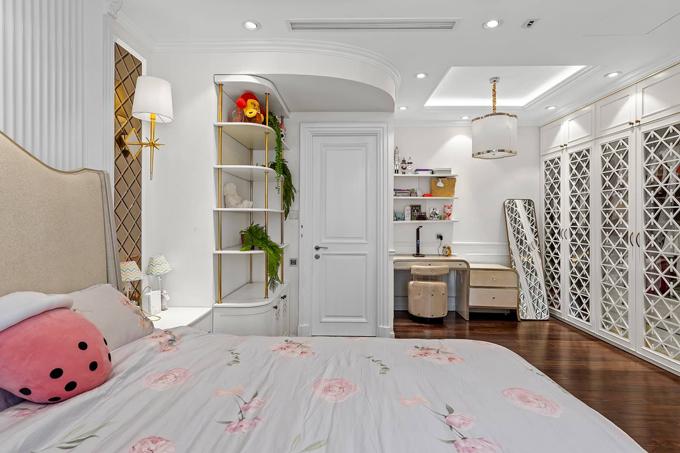Phòng ngủ dành cho các con của chị Vân Anh.