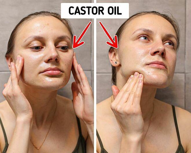 Massage da với dầu giúp làm sạch sâu, tăng cường máu lên da.