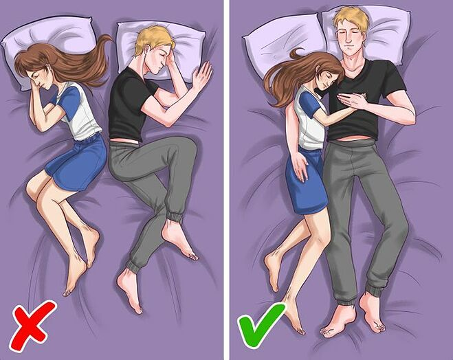 Ôm nhau ngủ không chỉ tăng gắn kết mà còn tốt cho sức khỏe.