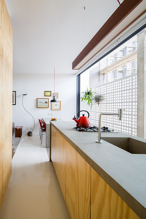 Một góc khác của căn bếp.