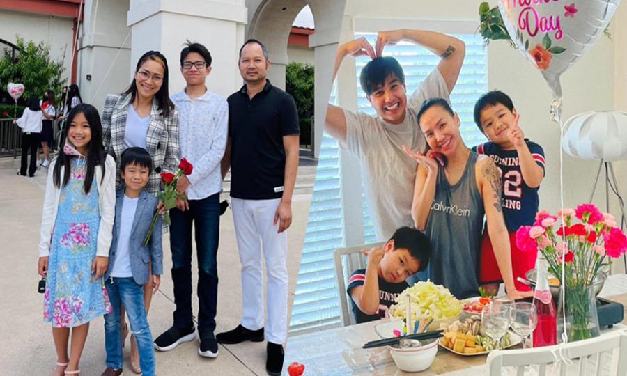 Sao Việt đón 'Ngày của mẹ' ở Mỹ