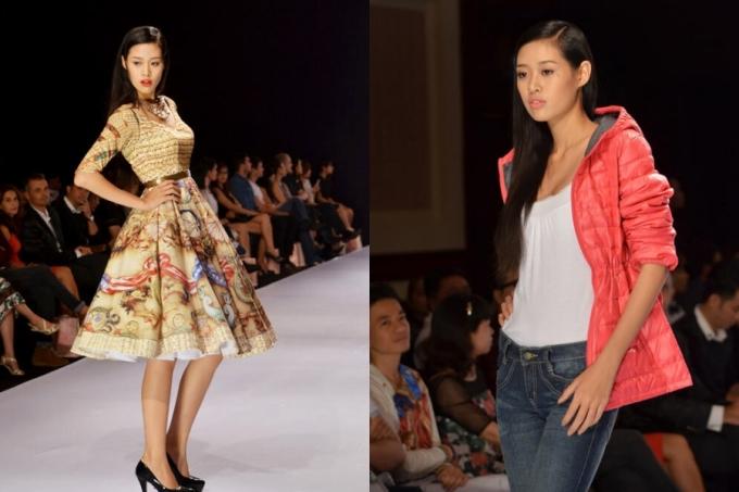 Thời gian này, Khánh Vân bắt đầu theo đuổi nghề người mẫu. Từ kỹ năng catwalk, phong thái trình diễn của cô còn nhiều rụt rè lẫn hạn chế.
