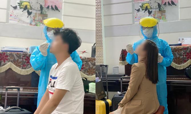 Vợ chồng BN 3460 được CDC thành phố Đà Nẵng lấy mẫu bệnh phẩm tại nhà ngày 9/5.