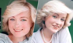 Bắt chước kiểu tóc huyền thoại của Công nương Diana