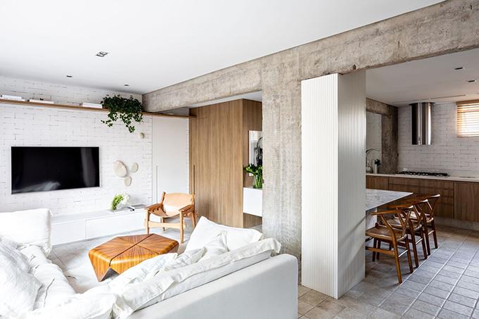 Căn hộ ở Brazil có diện tích 93 m2, được hoàn thiện bởi Nildo José vào năm 2018.