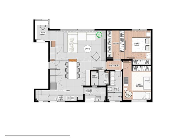 Căn hộ 93 m2 của cặp vợ chồng Brazil - 11