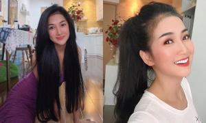 Quỳnh Lam mê nuôi tóc dài
