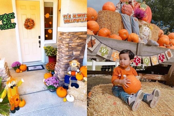 Bé Max được mẹ dẫn đi chơi dịp Halloween 2020. Phạm Hương muốn con được vui chơi, tận hưởng những lễ hội quan trọng ở Mỹ.