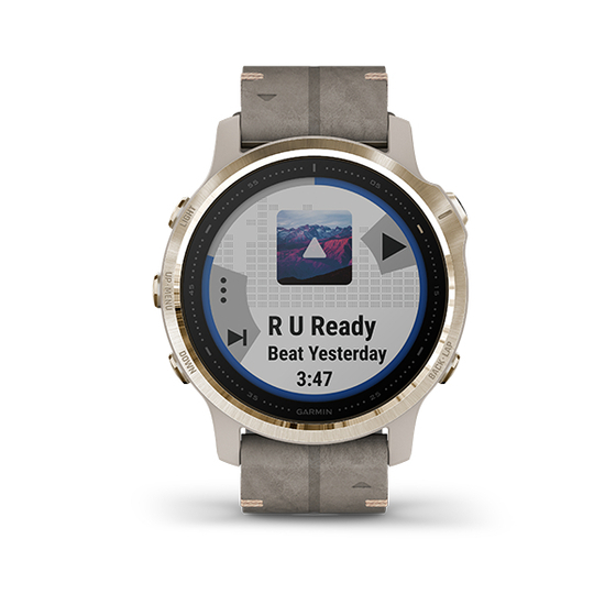 Đồng hồ Garmin Fēnix 6S - Light Gold - Trắng Vàng. 22.490.000đPhù hợp để hoạt động với thiết kế chắc chắn, tinh tế với màn hình 1.2 luôn mở và đọc được dưới nắng có gờ mặt đồng hồ bằng thép không gỉ, titan hoặc lớp phủ carbon như kim cương (DLC)- Với các cảm biến đo nhịp tim ở cổ tay¹ và Pulse Ox² tiên tiến, đồng hồ đo độ bão hòa oxy trong máu để hỗ trợ theo dõi giấc ngủ và thích nghi khí hậu độ cao tiên tiến khi ở những nơi cao- Các tính năng huấn luyện nâng cao bao gồm PacePro để hướng dẫn nhịp độ được điều chỉnh theo cấp độ trong suốt hoạt động của bạn và ước tính VO2 tối đa điều chỉnh theo môi trường và tình trạng tập luyện- Điều hướng ngoài trời với bản đồ tải sẵn, sơ đồ trượt tuyết cho hơn 2000 khu nghỉ dưỡng trượt tuyết khắp thế giới, nhiều hệ thống vệ tinh định vị toàn cầu (GPS, GLONASS và Galilleo) hỗ trợ và cảm biến tích hợp cho la bàn ba trục, con quay hồi chuyển và áp kế đo độ cao- Hỗ trợ thanh toán không tiếp xúc Garmin Pay³, kho âm nhạc hỗ trợ phát nhạc cao cấp4, thông báo thông minh và hơn nữa5- Tuổi thọ pin: Đến 9 ngày tuổi thọ pin trong chế độ đồng hồ đeo tay thông minh, chế độ GPS và âm nhạc tối đa 7 giờ, 30 giờ trong chế độ UltraTrac; chế độ quản lý công suất tùy chỉnh cho phép bạn xem và kiểm soát ảnh hưởng của các thiết lập và cảm biến lên tuổi thọ pin