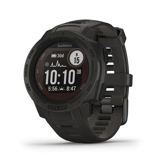 Đồng hồ Garmin Instinct Solar - Đen9.900.000đGarmin Instinct Solar là chiếc đồng hồ thông minh GPS được thiết kế phá cách, chế tác cho độ bền cao. Thiết bị nâng tuổi thọ pin lên một tầm cao mới bằng cách khai thác năng lượng của mặt trời.- Trải nghiệm tuổi thọ pin chưa từng có với khả năng sạc bằng năng lượng mặt trời.- Độ bền tiêu chuẩn quân sự cho phép bạn va chạm một cách thoải mái mà không phải lo lắng.- GPS, GLONASS và Galileo. Ba người bạn tốt nhất của bạn nơi hoang dã.- Huấn luyện thông minh hơn với các ứng dụng thể thao tích hợp ngay trên cổ tay của bạn.- Nhận thông báo trực tiếp từ điện thoại ngay trên cổ tay của bạn.- Sử dụng lâu hơn. Sạc ít hơn. Lên đến 54 ngày ở chế độ đồng hồ thông minh.