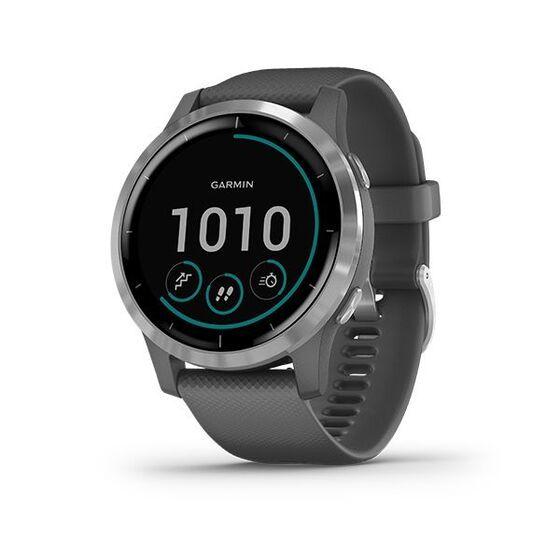 Đồng hồ Garmin Vivoactive 4 - Xám 8.160.500đ (- 5 %)Theo dõi sức khỏe 24/7 với tính năng theo dõi năng lượng Pulse Ox¹ và Body Battery, theo dõi hô hấp, chu kỳ kinh nguyệt, mức căng thẳng, giấc ngủ, nhịp tim², lượng nước và nhiều chức năng khác- Dễ dàng tải bài hát về đồng hồ bao gồm cả danh sách nhạc từ tài khoản Spotify®, Deezer , kết nối với tai nghe không dây (được bán riêng) để nghe nhạc mà không cần điện thoại.- Ghi lại tất cả cách thức di chuyển với hơn 20 ứng dụng thể thao trong nhà và GPS được tải sẵn, bao gồm yoga, chạy bộ, bơi lội và nhiều môn khác- Nhận các bài tập hình họa dễ làm theo ngay trên màn hình đồng hồ, bao gồm sức mạnh, nhịp tim, yoga và Pilates- Thời lượng pin: lên tới 8 ngày ở chế độ đồng hồ thông minh và lên tới 6 giờ ở chế độ âm nhạc và GPS