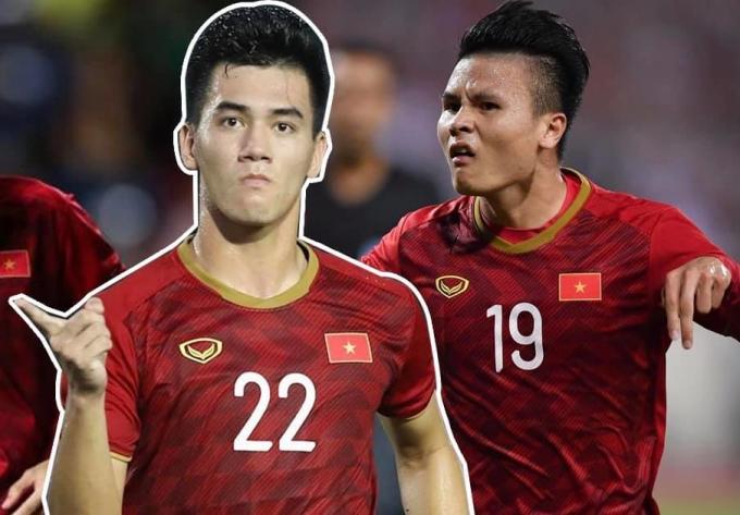 Quỳnh Thư gây chú ý khi đăng ảnh Tiến Linh và Quang Hải, dự đoán một trong hai người sẽ ghi bàn trong trận đấu gặp UAE tối 15/6.