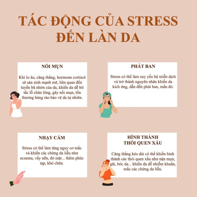Stress tác động đến da như thế nào