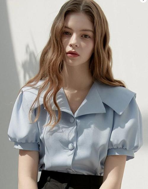 Áo blouse tay ngắn cho mùa hè - 4