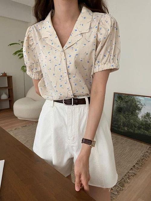 Áo blouse tay ngắn cho mùa hè - 1