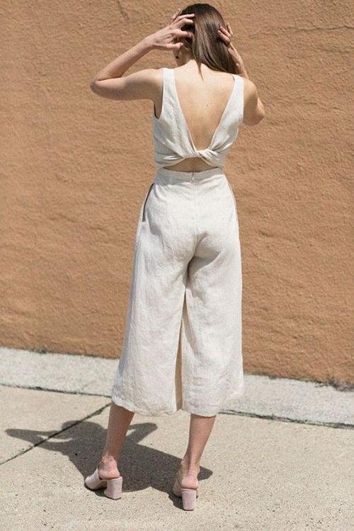 Áo hở eo vải thô cho set đồ ở nhà - 8