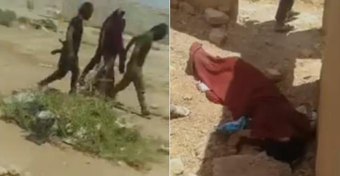 Cô gái 18 tuổi ở ngoại ô thành phố Al Hasakah, Syria bị bố, anh trai và một người trong bộ tộc kéo đi, bắn chết hồi tuần trước. Ảnh: Akhbaralaan.net.