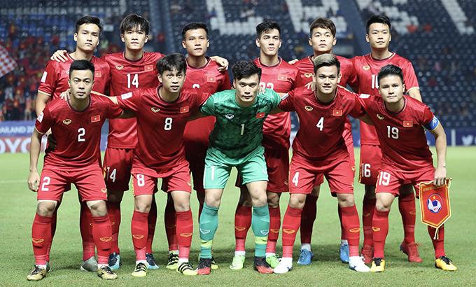 Đội hình U23 Việt Nam trong trận ra quân tại vòng chung kết U23 châu Á 2020 gặp UAE. Ảnh: Đức Đồng.
