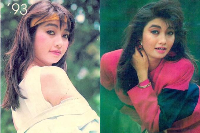 Hoa hậu Lý Thu Thảo biến hóa trong một bộ ảnh thực hiện năm 1993.