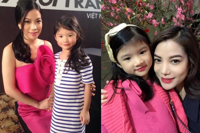 Khác với nhiều sao Việt, Trương Ngọc Ánh cởi mở khoe con với công chúng. Thỉnh thoảng, cô đưa bé theo đến nơi làm việc, nhờ vậy từ nhỏ Bảo Tiên dạn dĩ với