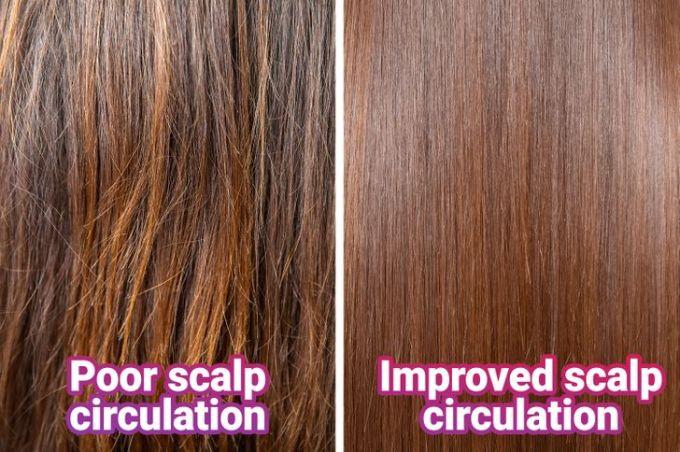 Caffeine làm tăng tuần hoàn máu, giúp tóc bóng mượt.