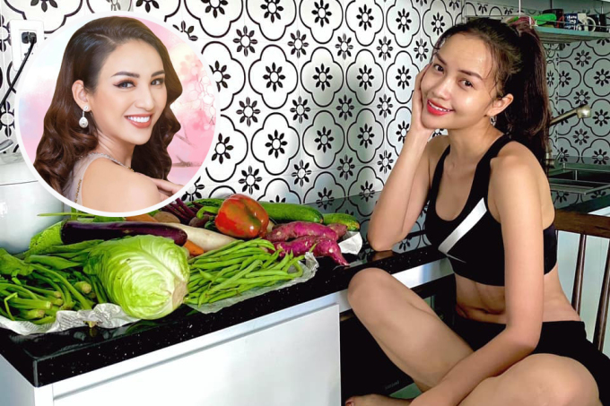 Hoa hậu Ngọc Châu những ngày qua bận rộn tham gia công tác chống dịch tại TP HCM. Sợ đàn em không có thời gian đi chợ, hoa hậu Ngọc Diễm liền gửi nhiều rau củ, đủ sử dụng trong một tuần.