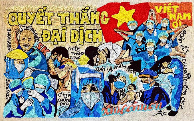 Hoa hậu Phương Khánh chia sẻ: Một điều nhỏ nhỏ mà Khánh muốn gửi đến các y bác sĩ, tình nguyện viên và các chiến sĩ tuyến đầu chống dịch, một lời cảm ơn chân thành nhất vì đã cố gắng bảo vệ người dân.