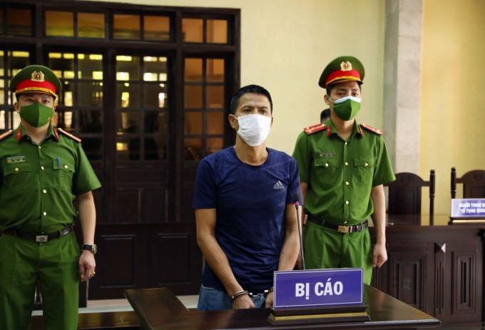 Trần Văn Thịnh tại phiên xét xử. Ảnh Công an cung cấp.
