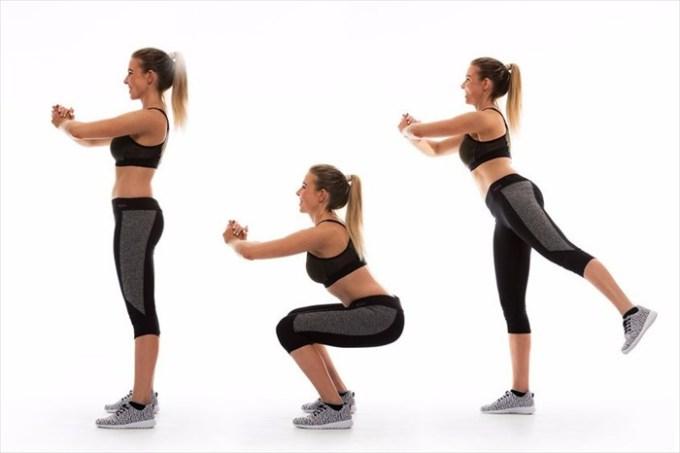 Back kick squat.