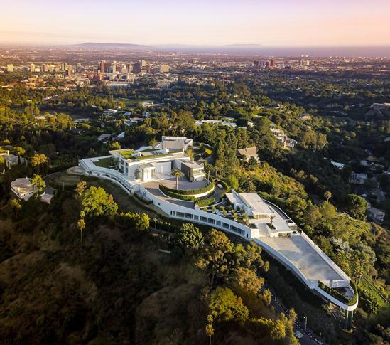 Toàn cảnh siêu dinh thự The One ở Los Angeles, Mỹ. Ảnh: The Society Group.