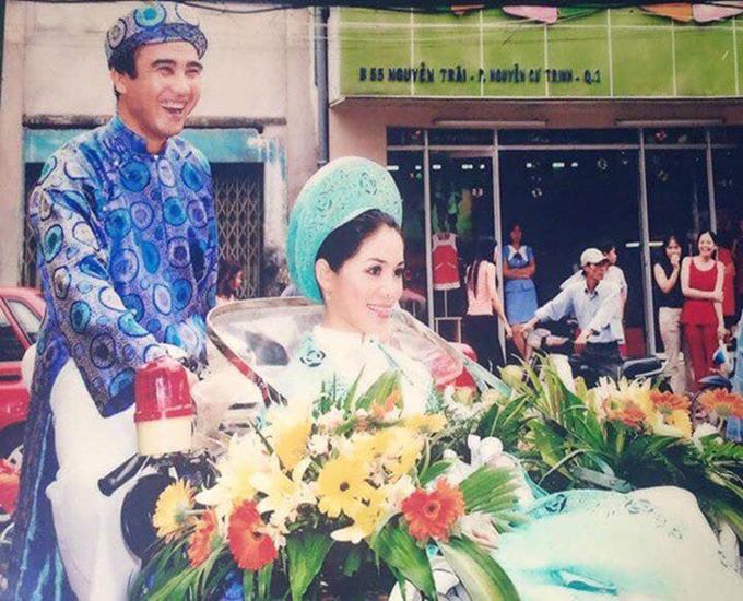 Cảnh đón dâu trong đám cưới Quyền Linh.