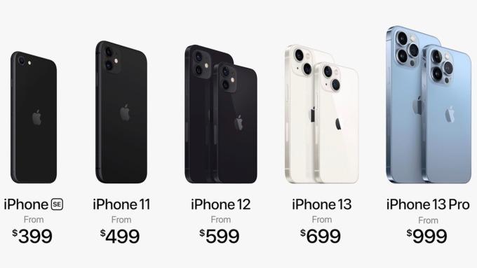 Giải sản phẩm hiện tại của Apple. Ảnh: Apple