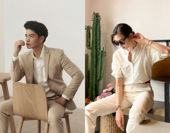Với phong cách menswear đặc trưng, Ngô Thanh Vân là một nửa hoàn hảo của Huy Trần. Nhiều bức ảnh của cả hai không hẹn nhưng trông ăn ý chẳng khác gì mặc đồ đôi.
