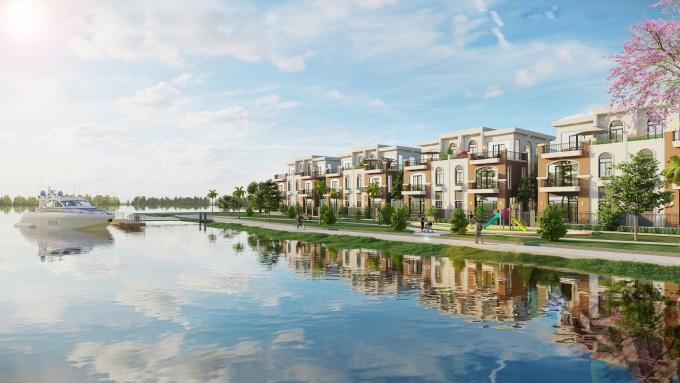 Không gian sống sinh thái và tiện nghi tại đô thị đảo Phượng Hoàng, Aqua City . Ảnh: Novaland