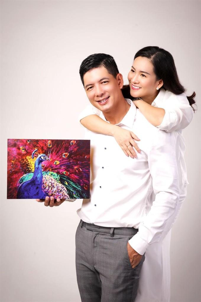 Bình Minh và bà xã doanh nhân có 13 năm hôn nhân. Ảnh: Nhân vật cung cấp